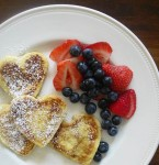 Healthy Valentines Day Pancakes