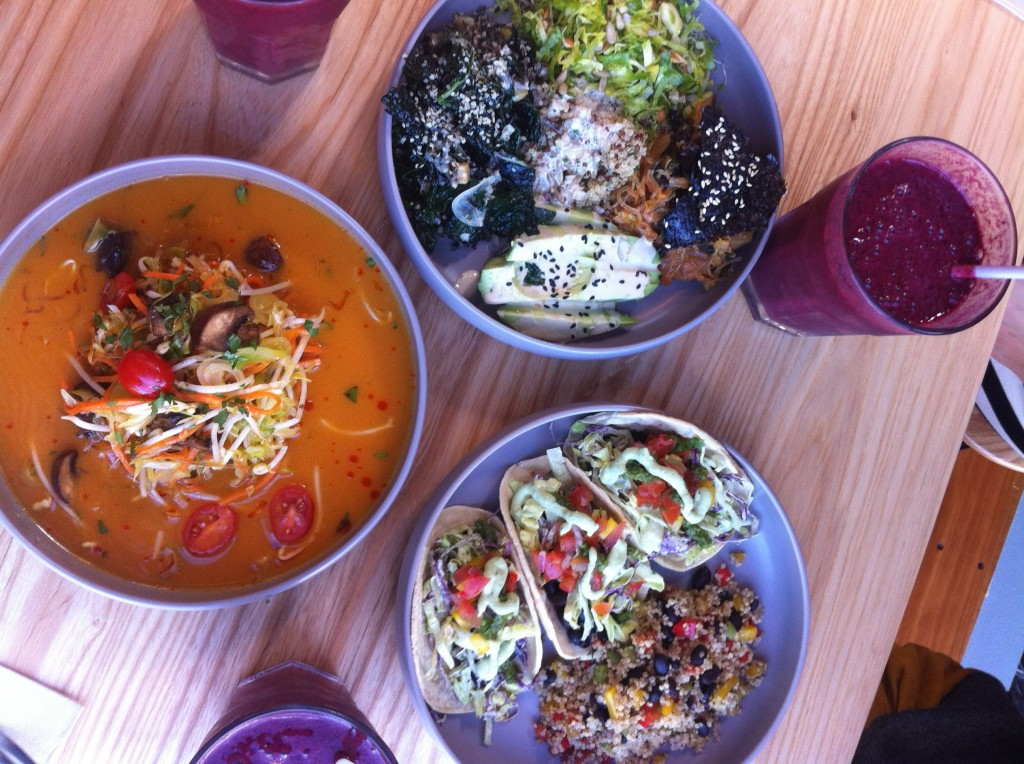 A feast at 'Littlebird Unbakery', Ponsonby