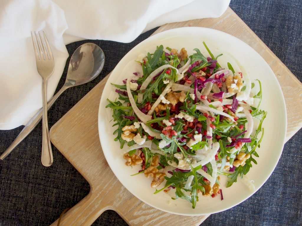 Fennel Pomegranate Goats Cheese Salad