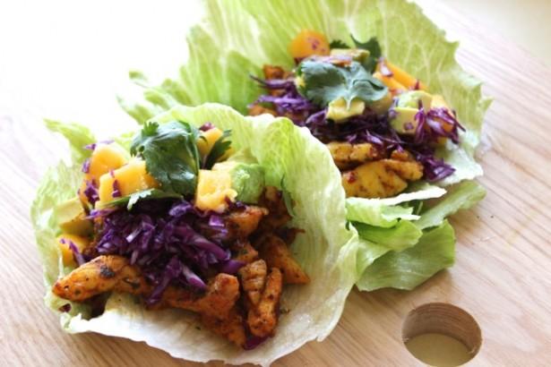 Fish Taco- Avo & Mango Salsa