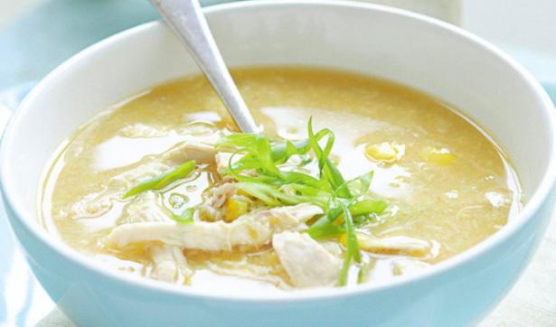 Chicken & Corn Soup - An Apple a Day