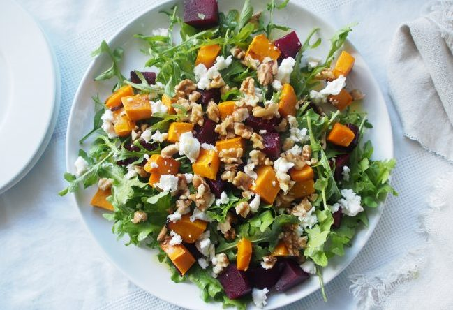 Pumpkin and Beetroot Salad - An Apple a Day