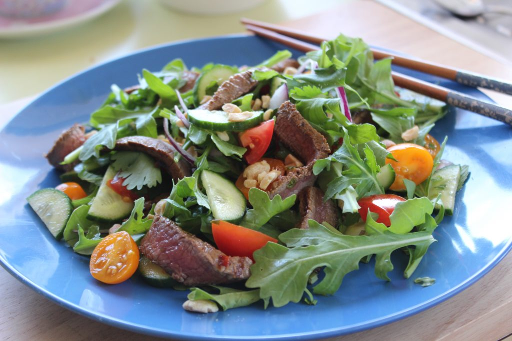 Thai Beef Salad - An Apple a Day - Alyse Co-cliff Cocliff