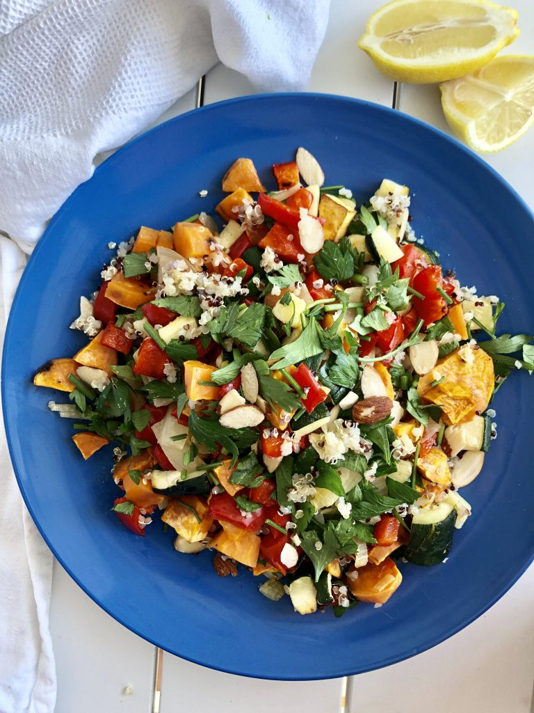 Roast Veg Quinoa Salad - An Apple a Day