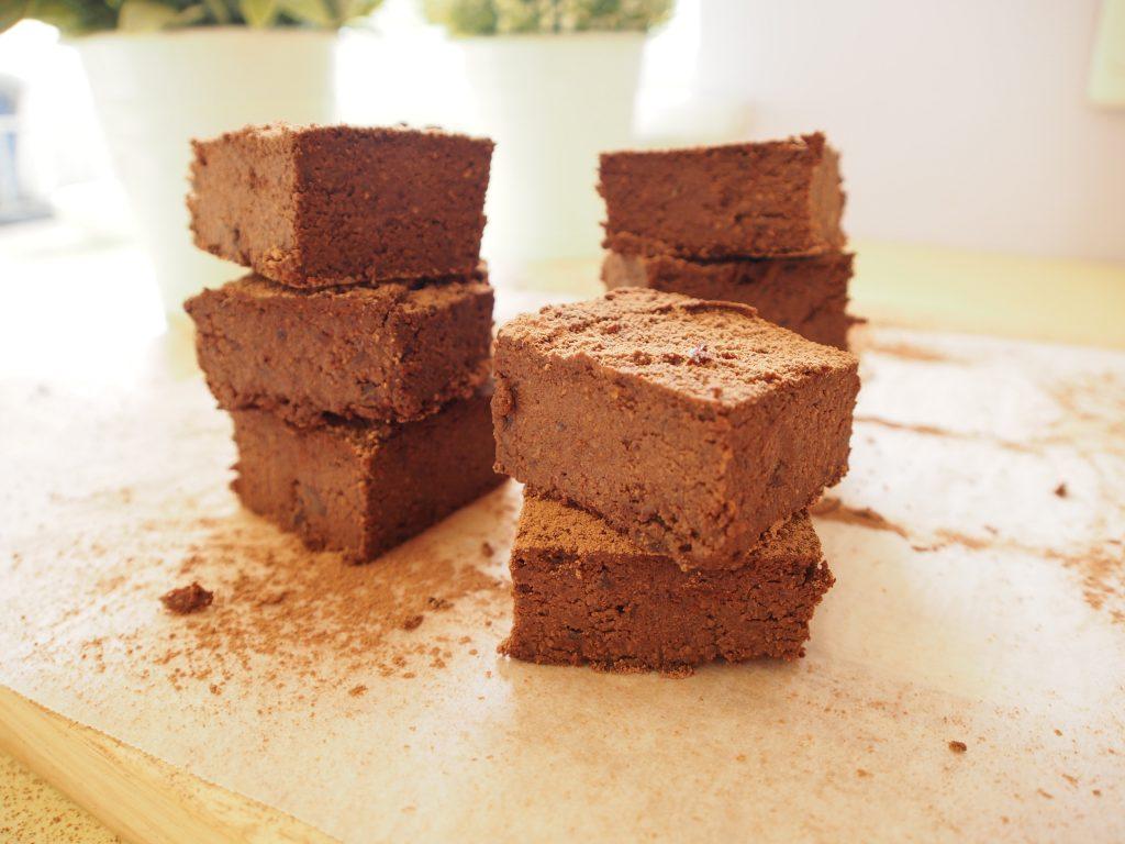Black Bean Sweet Potato Brownie