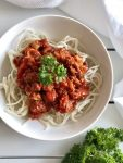 Spaghetti Bolognese with Extra Veg - An Apple A Day