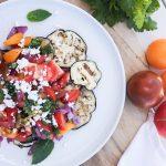 Grilled Eggplant & Tomato Salad