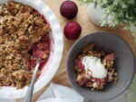 Baked Pear & Plum Crumble
